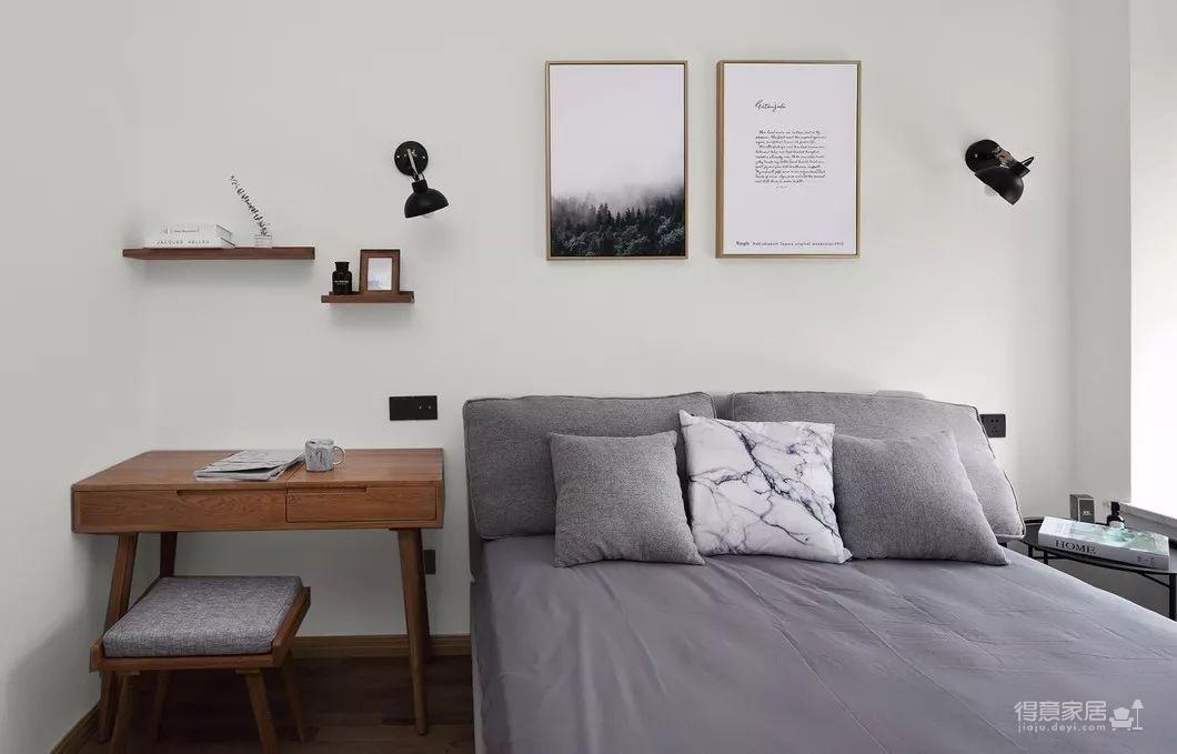 80平现代简约两居室,原木风好温暖!图_16