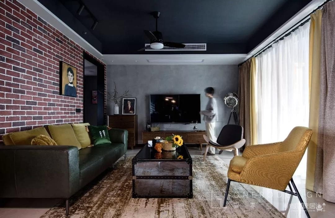 Onero Design | 131㎡精装房改工业风 — 烘焙师的自由梦之家。图_3