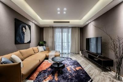 80㎡咖色调·现代简约风格家居设计,就喜欢这种细腻质感的氛围! ????
