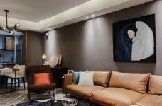 80㎡咖色调·现代简约风格家居设计,就喜欢这种细腻质感的氛围! 图_4