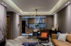 80㎡咖色调·现代简约风格家居设计,就喜欢这种细腻质感的氛围! 图_3