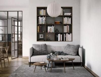 一室一厅的简约设计小宅,木制家具更添中式风格