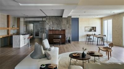 冶炼生活的禅,高雄一间北欧混搭禅意住宅设计