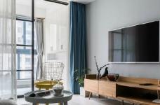 80㎡温馨少女心的家,简约时尚小北欧二居室,好喜欢这个蓝色!图_2