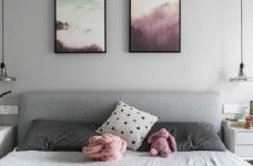 80㎡温馨少女心的家,简约时尚小北欧二居室,好喜欢这个蓝色!图_8