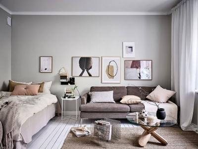 瑞典一间36㎡斯堪的纳维亚小公寓,紧凑又舒适!