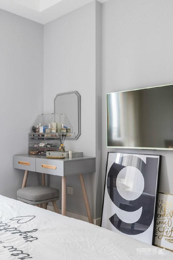 80㎡温馨少女心的家,简约时尚小北欧二居室,好喜欢这个蓝色!图_7