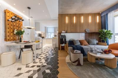 50㎡小户型隔出两房一厅!设计师的家超惊艳!