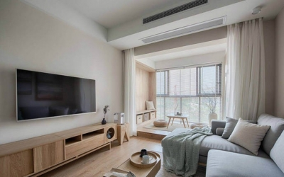 简约日式风家居设计,木质的运用使得空间格外温馨舒适! 