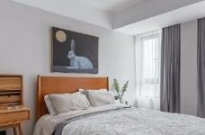 95㎡北欧混搭风三居室,淡淡的高级灰,使得空间特别柔和淡雅! 图_8
