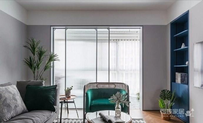 95㎡北欧混搭风三居室,淡淡的高级灰,使得空间特别柔和淡雅! 