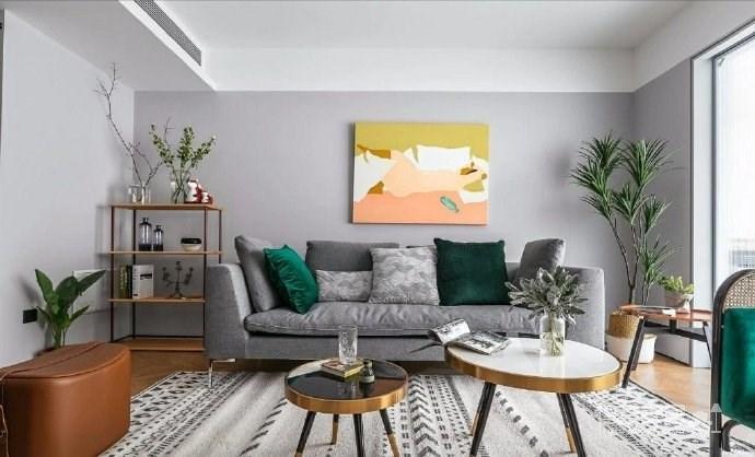 95㎡北欧混搭风三居室,淡淡的高级灰,使得空间特别柔和淡雅! 图_1