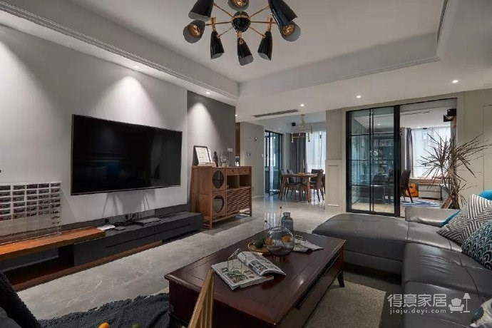 简约现代风格三居室装修案例,莫名一种沉稳内敛的舒适感! 图_1