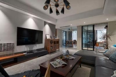 简约现代风格三居室装修案例,莫名一种沉稳内敛的舒适感! 