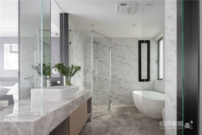 现代简约风格三居室装修,精致大气有颜值的轻奢空间,高端有格调!图_4