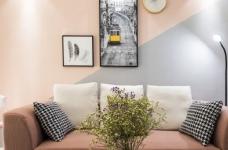 黑白灰+粉橘的北欧风图_1