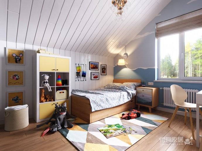 北欧清新绿 小户型设计图_8