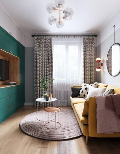 北欧清新绿 小户型设计