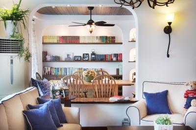 精选案例-地中海风格客厅餐厅展示