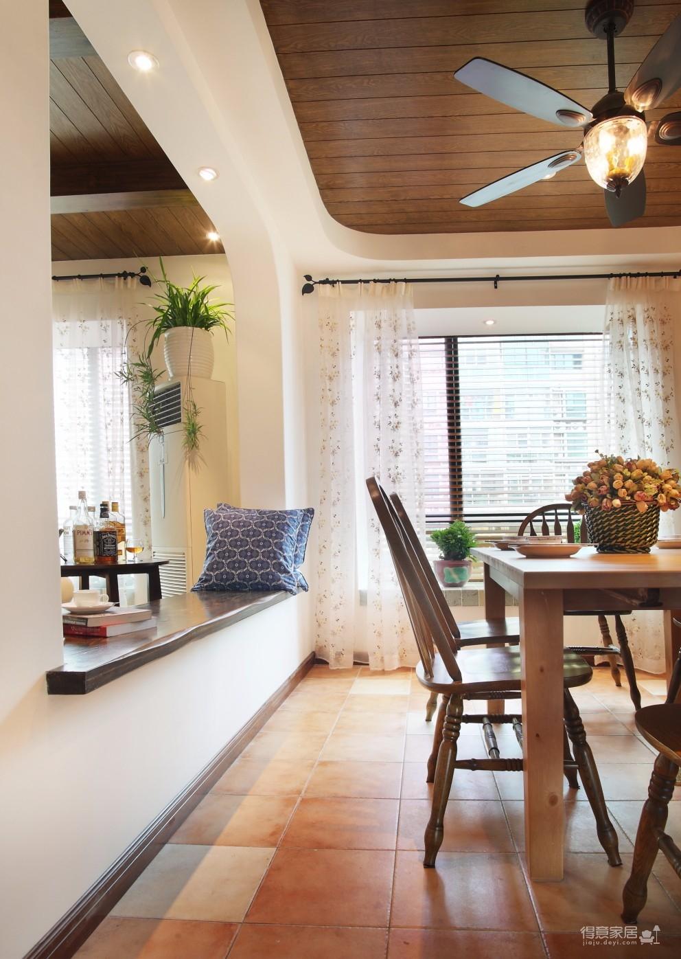 精选案例-地中海风格客厅餐厅展示图_5
