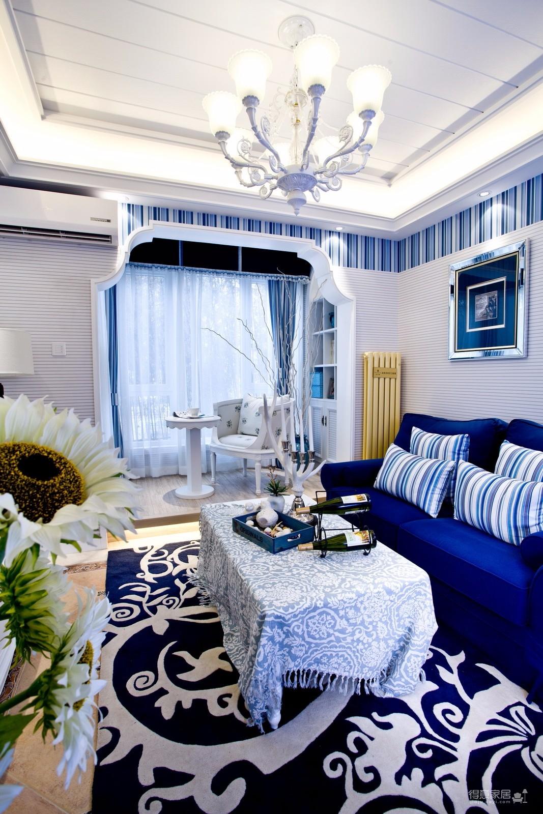 88平米三居室地中海风格