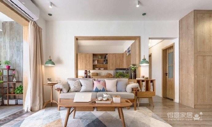 110平日式原木风,想住这样的家。图_2