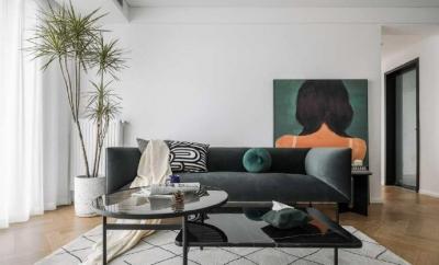 120平三室北欧风,白和绿的色彩搭配碰撞出赏心悦目的家。