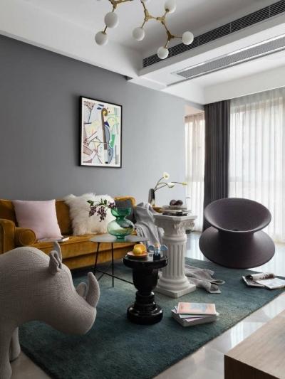 90平北欧风装修,喜欢素色与暖色的穿插。