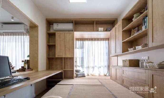 110平日式原木风,想住这样的家。