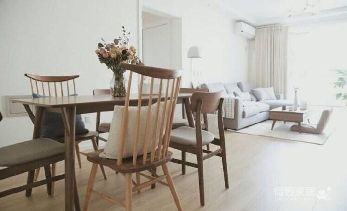70平小户型装修,舒适与安心的北欧混搭风家居图_6