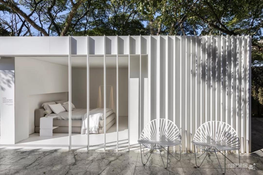 两个集装箱拼成一室一厅,60㎡的空间附赠90㎡大庭院图_2