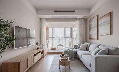 70平小户型装修,原木色,白色,灰色的日式搭配设计