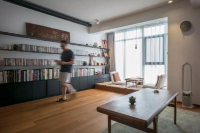 美术学校校长的家,融合了极简主义的中式风格