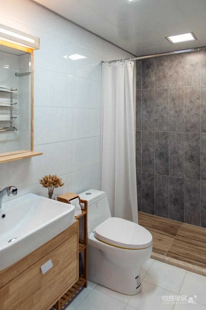 80㎡现代简约风格家居装修设计,淡淡的原木质感,自然又清新! 