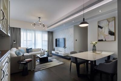 100㎡现代简约风格三居室,合理的空间布局,温馨柔和的装饰,营造了一个简单纯粹的家!