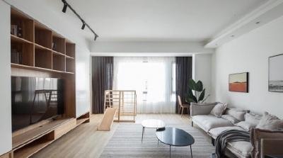 120平现代简约风,整体白色加实木,温馨又整洁。