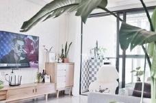 两居室北欧风,喜欢墙面配色,十分清新脱俗。图_2