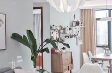 两居室北欧风,喜欢墙面配色,十分清新脱俗。图_3