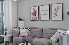 两居室北欧风,喜欢墙面配色,十分清新脱俗。图_1
