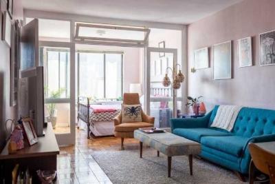 46平米小家装修很有情调 厨房竟然是浅粉色调
