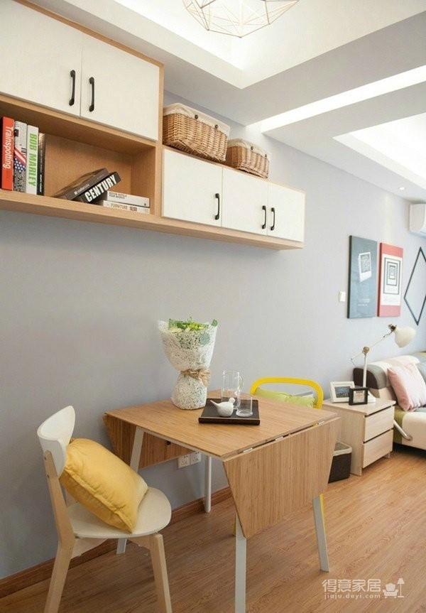 77平简约混搭二居室,几何图案搭配纯净基调图_2