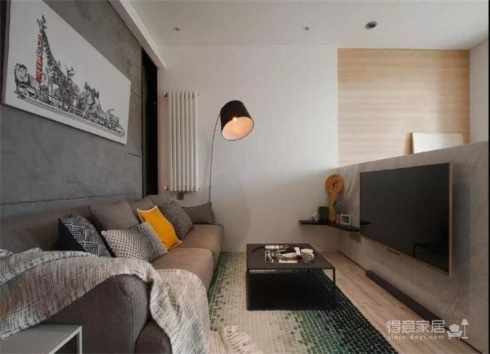 43平的工业风小户型公寓,水泥墙带来独特质感图_3