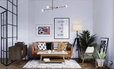 74㎡纳维亚风公寓,轻复古的质感之家