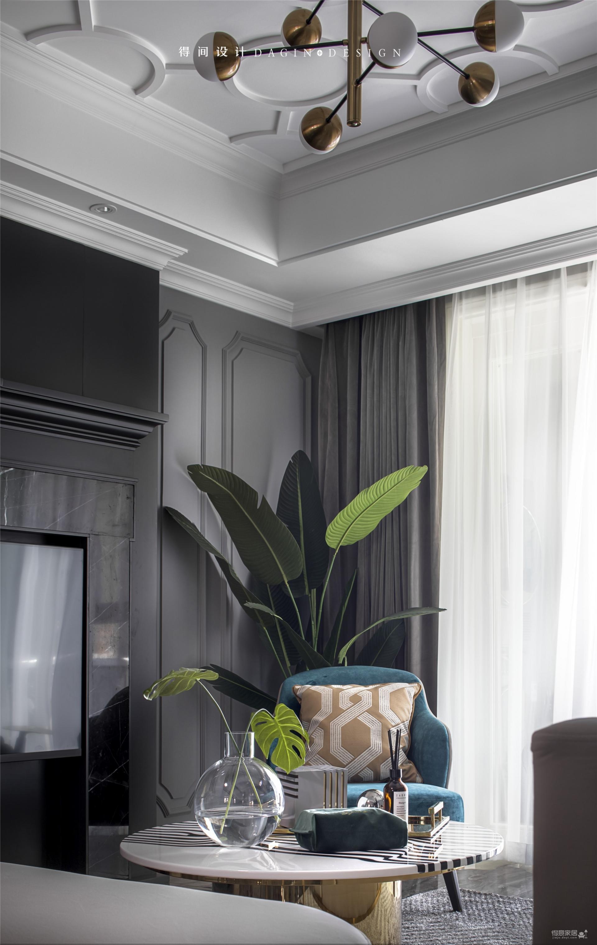首发 || 这个家用壁炉电视墙,打造出撩人心弦的美式轻奢风!图_6