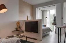 43平的工业风小户型公寓,水泥墙带来独特质感图_1
