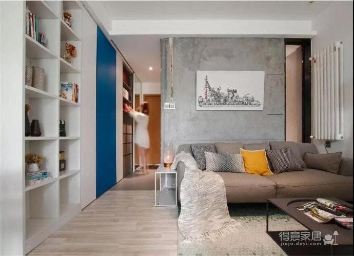 43平的工业风小户型公寓,水泥墙带来独特质感图_4
