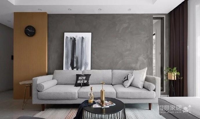 118平现代简约三居室,黑白灰调舒适阳光房图_4