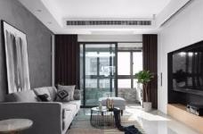 118平现代简约三居室,黑白灰调舒适阳光房图_1