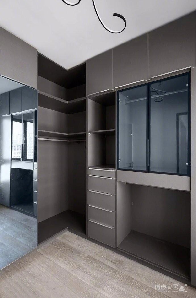 118平现代简约三居室,黑白灰调舒适阳光房图_6