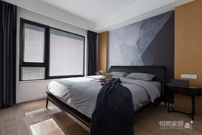 118平现代简约三居室,黑白灰调舒适阳光房